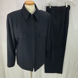 Ellen Tracy Women's Black Wool Pant Suit 14